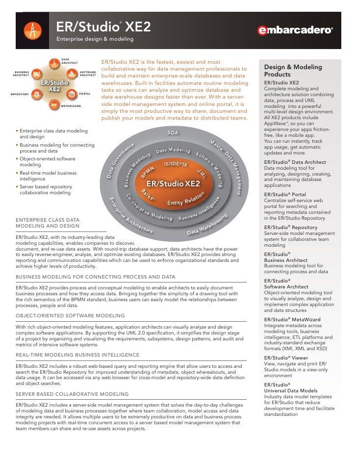 ER/Studio XE2                                                       ®                    Enterprise design & modeling     ...