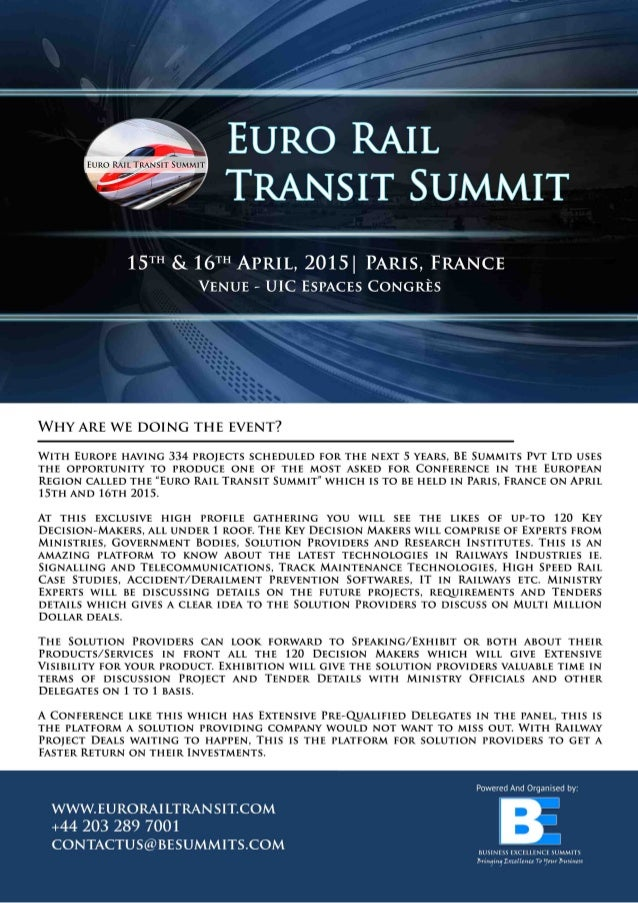 Euro Rail Transit Summit