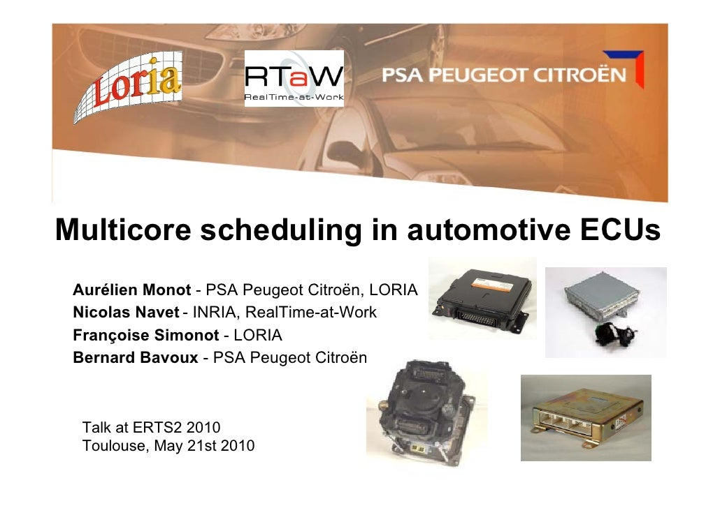 Multicore scheduling in automotive ECUs