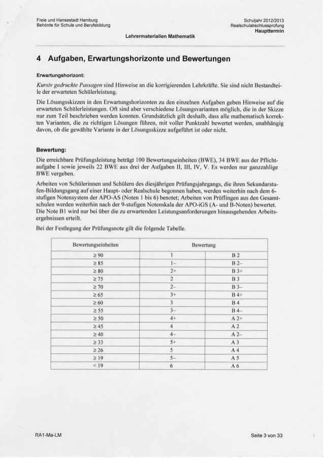 Frei6 und Hansestadr HsmbuqBehörde für Schule und BerufsbildungScn!ljahr20122013RealschulabschlussprofungHaupttermlnLehrer...
