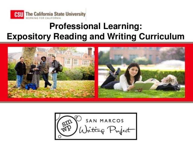 Professional Learning: Expository Reading and Writing Curriculum