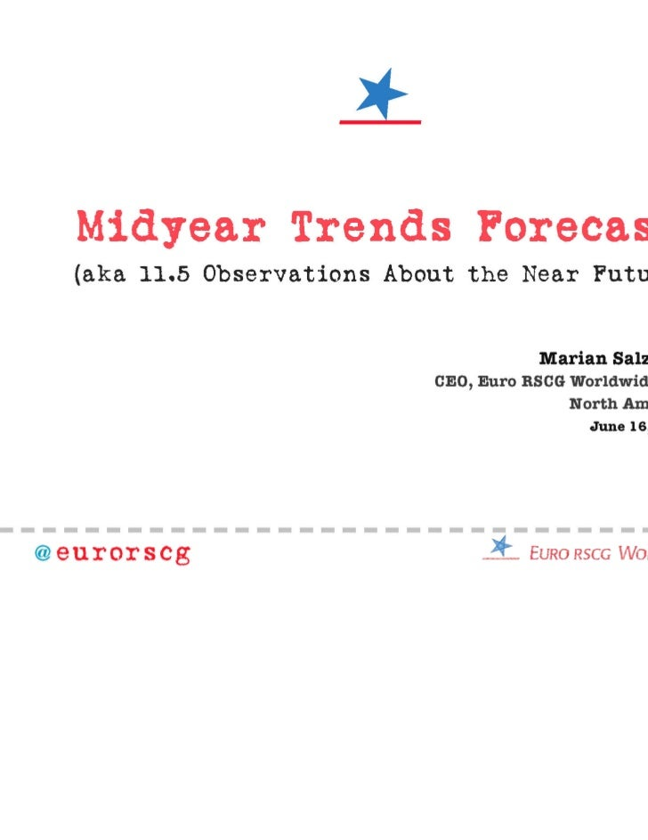Trends for 2011.5 and Beyond