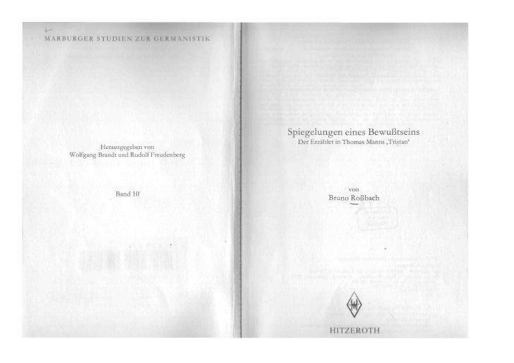 Erzähler  Tristan Letztes  Kapitel  Rossbach