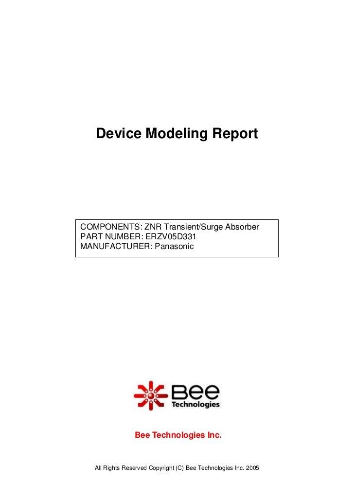 SPICE MODEL of ERZV05D331 in SPICE PARK