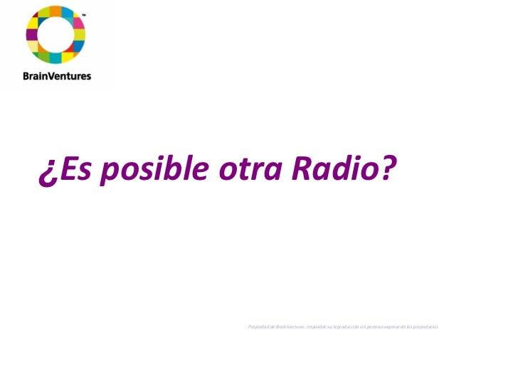 Es Posible Una Nueva Radio