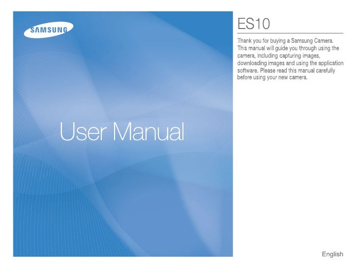 Samsung Camera ES10 User Manual