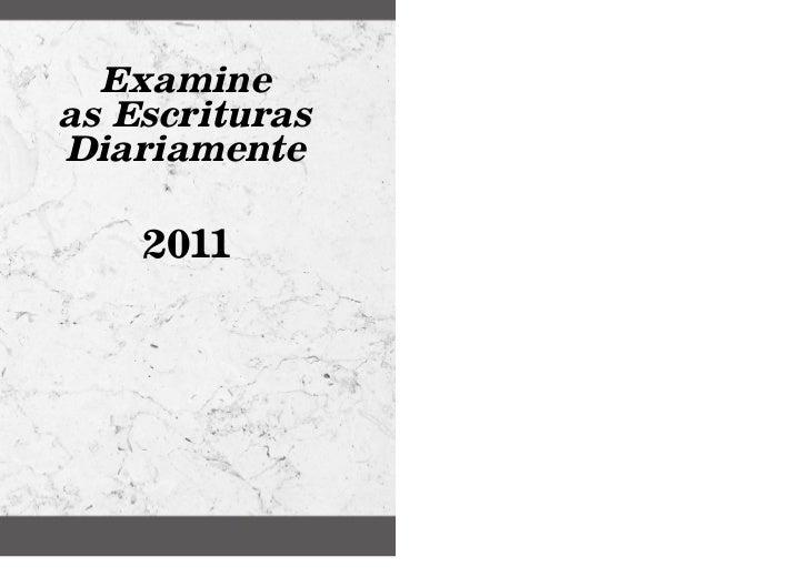 Examineas EscriturasDiariamente    2011