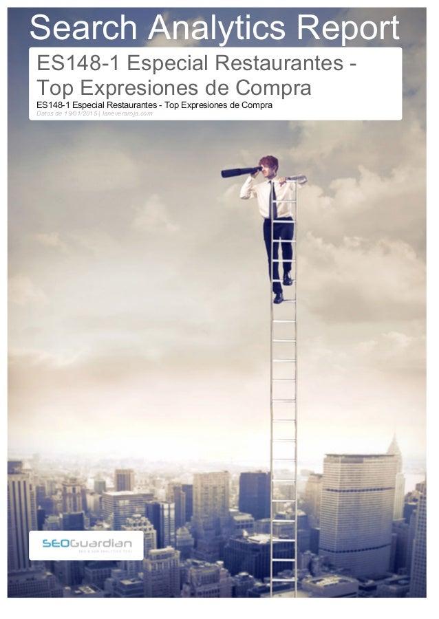 Search Analytics Report ES148-1 Especial Restaurantes - Top Expresiones de Compra ES148-1 Especial Restaurantes - Top Expr...