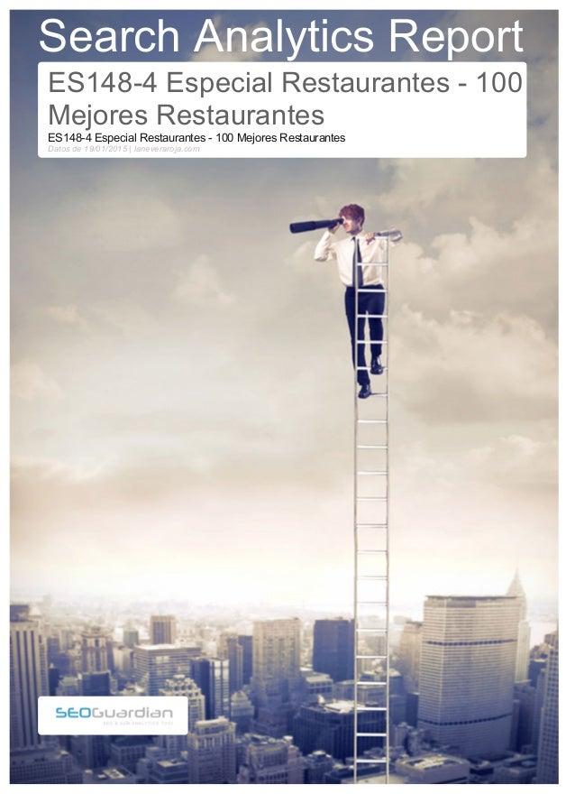 Search Analytics Report ES148-4 Especial Restaurantes - 100 Mejores Restaurantes ES148-4 Especial Restaurantes - 100 Mejor...