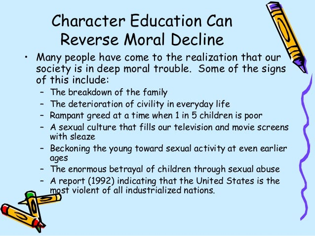 deterioration of moral values in todays world