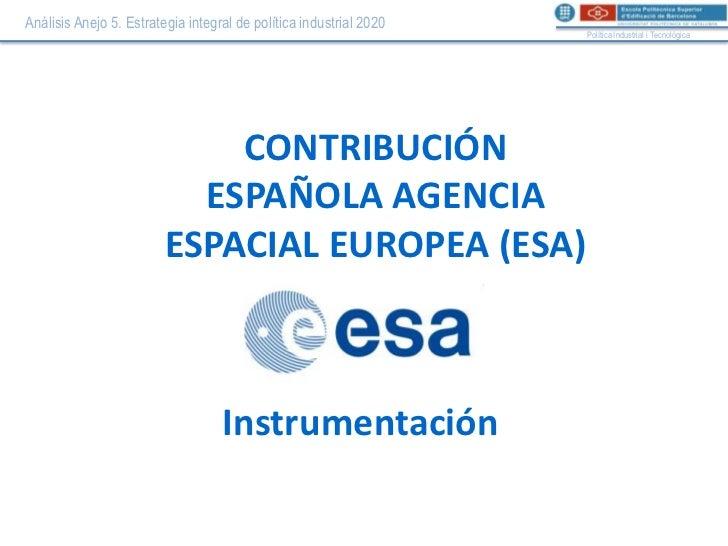ESA - Instrumentación