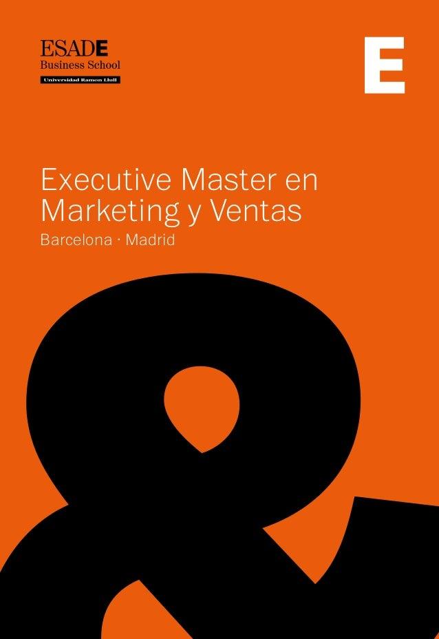 Executive Master enMarketing y VentasBarcelona · Madrid