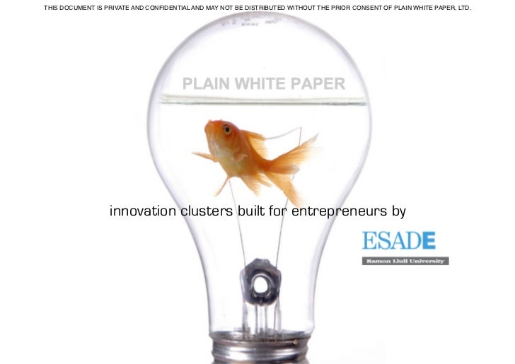 Using Clusters to Facilitate Innovation & Entrepreneurship within communities.