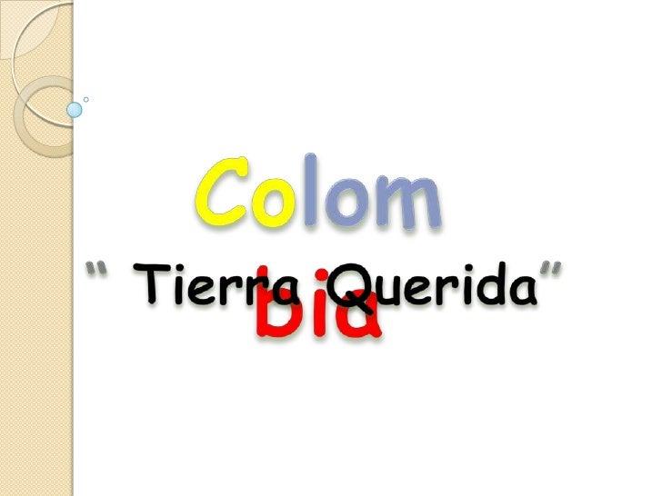 Esa es colombia