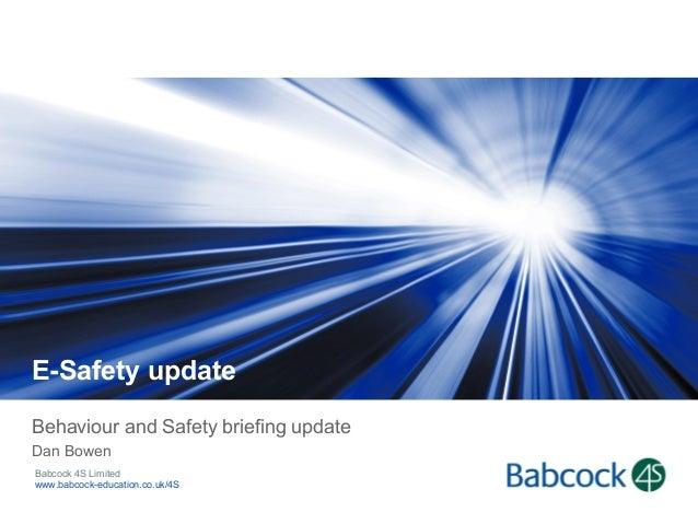 Esafety b&s briefing update