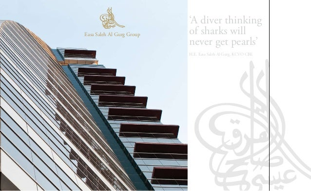 'A diver thinking    Easa Saleh Al Gurg Group   of sharks will                               never get pearls'            ...