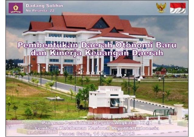Pembentukan Daerah Otonomi Baru  dan Kinerja Keuangan Daerah