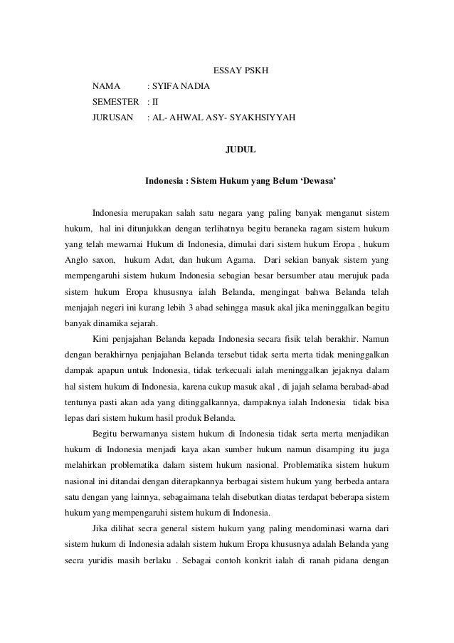 thesis hukum Contoh skripsi hukum pidana – negara indonesia termasuk negara hukum, sehingga tidak asing lagi bila kita mendengar kata hukum di indonesia, terdapat berbagai.