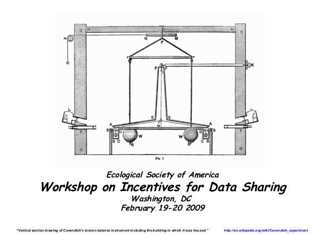 Ecological Society of America             Workshop on Incentives for Data Sharing                                         ...