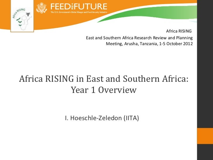 Africa RISING                  East and Southern Africa Research Review and Planning                            Meeting, A...