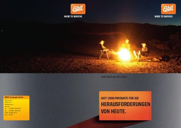 ESBIT Katalog_Umschlag_RZ_RZ 03.07.12 21:19 Seite 1                                                      MADE TO SURVIVE. ...