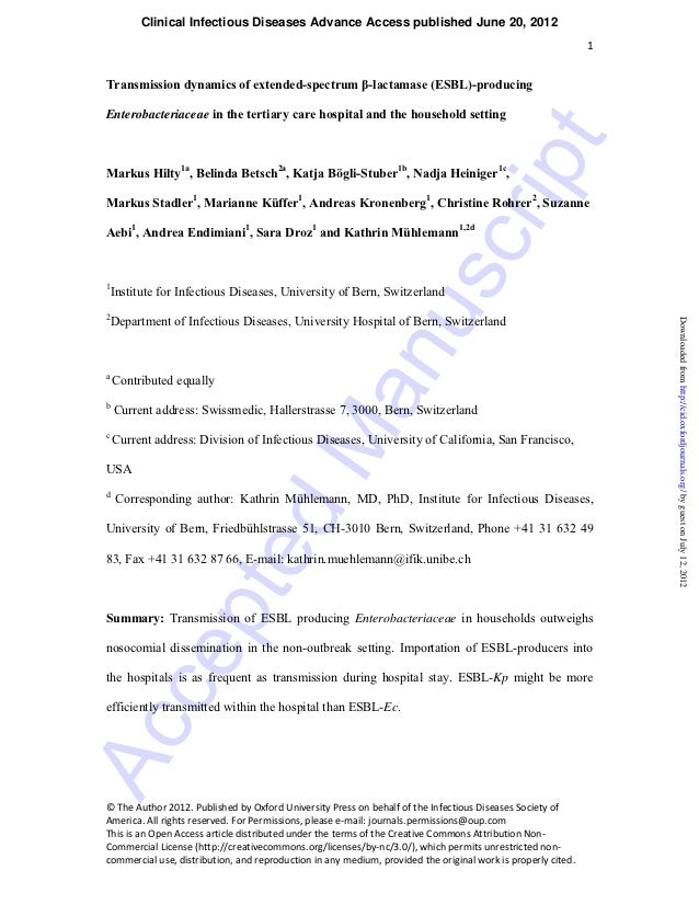 Clinical Infectious Diseases Advance Access published June 20, 2012                                                       ...