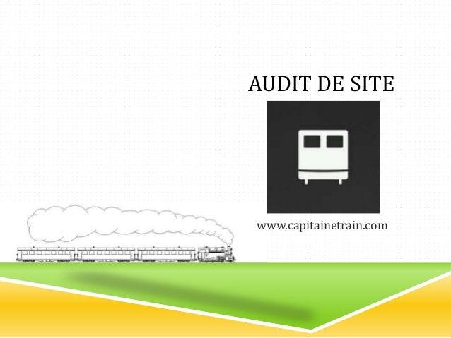 AUDIT DE SITE www.capitainetrain.com