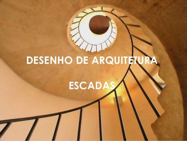 Escadas -  desenho de arquitetura