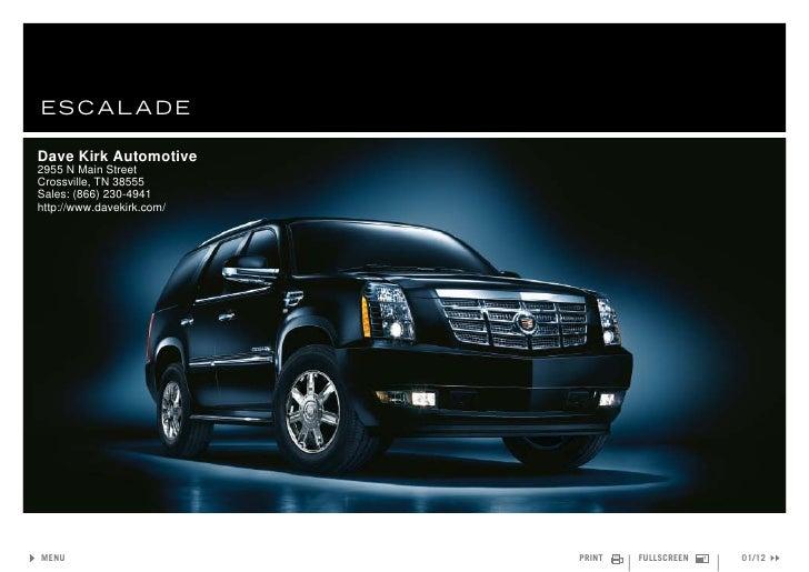 2011 Cadillac Escalade – Dave Kirk Automotive Crossville, TN
