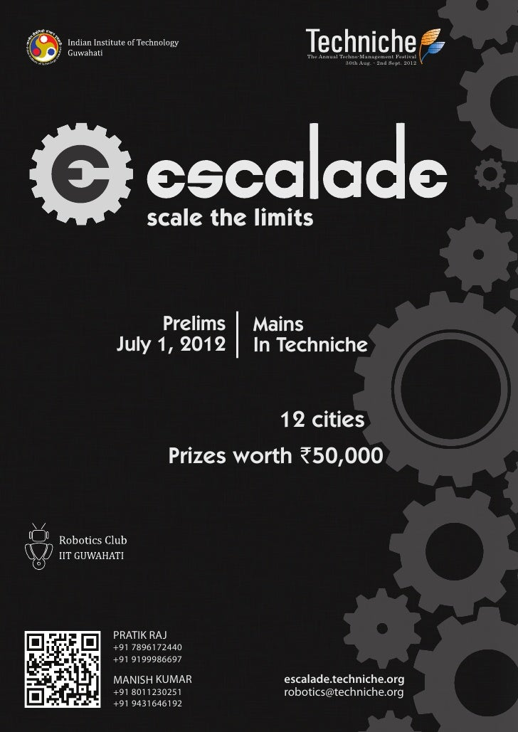 The Annual Techno-Management Festival                                        30th Aug. - 2nd Sept. 2012      scale the lim...
