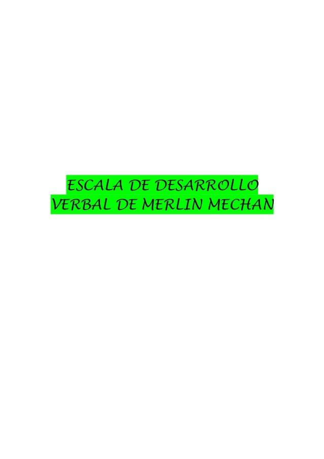 ESCALA DE DESARROLLO VERBAL DE MERLIN MECHAN
