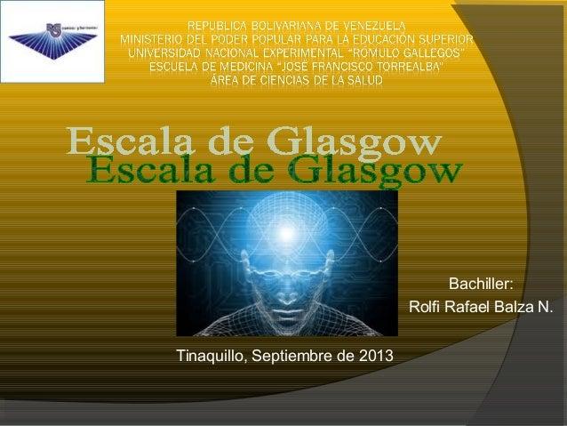 Tinaquillo, Septiembre de 2013 Bachiller: Rolfi Rafael Balza N.