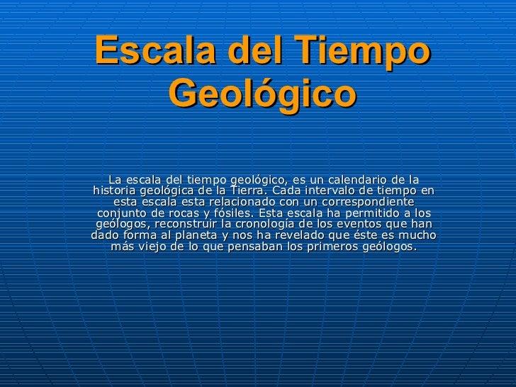 Escala del tiempo geologico - El tiempo en l arboc ...