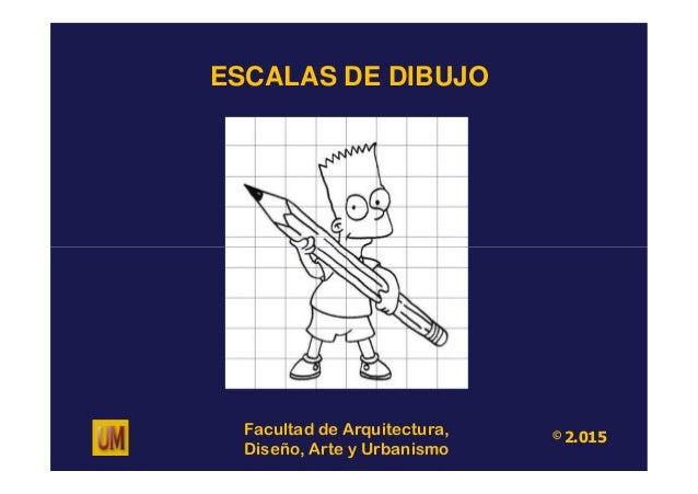 ESCALAS DE DIBUJO Facultad de Arquitectura, Diseño, Arte y Urbanismo © 2.015