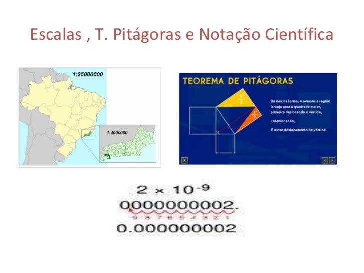 Escalas , T. Pitágoras e Notação Científica