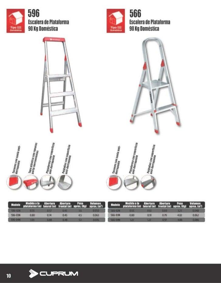 Escalera De Plataforma De Aluminio Domestica Cuprum 596 03