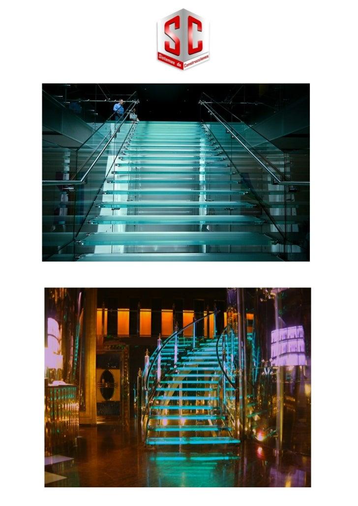 Escaleras vidrio templado - Escaleras de cristal templado ...