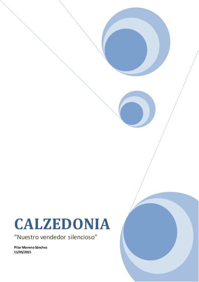 """CALZEDONIA """"Nuestro vendedor silencioso"""" Pilar MorenoSánchez 11/05/2015"""
