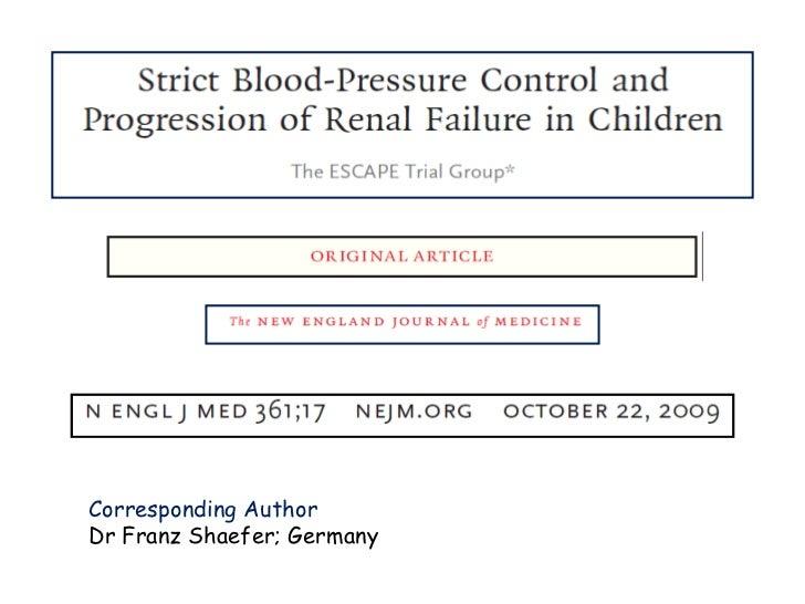 Corresponding Author Dr Franz Shaefer; Germany