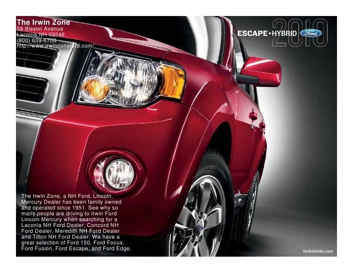 2010 Ford Escape Hybrid Laconia