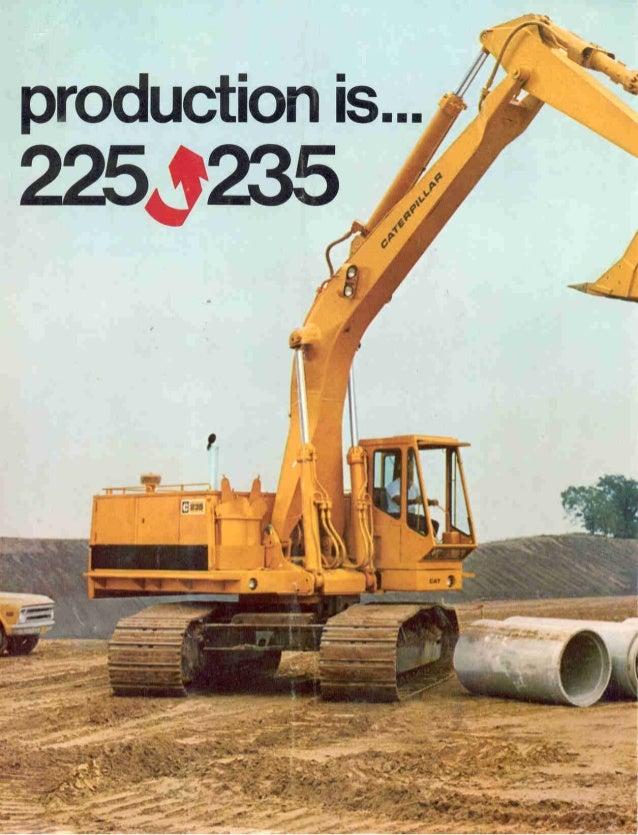 Escavadeira hidraulica 225 cat   1974 brochure