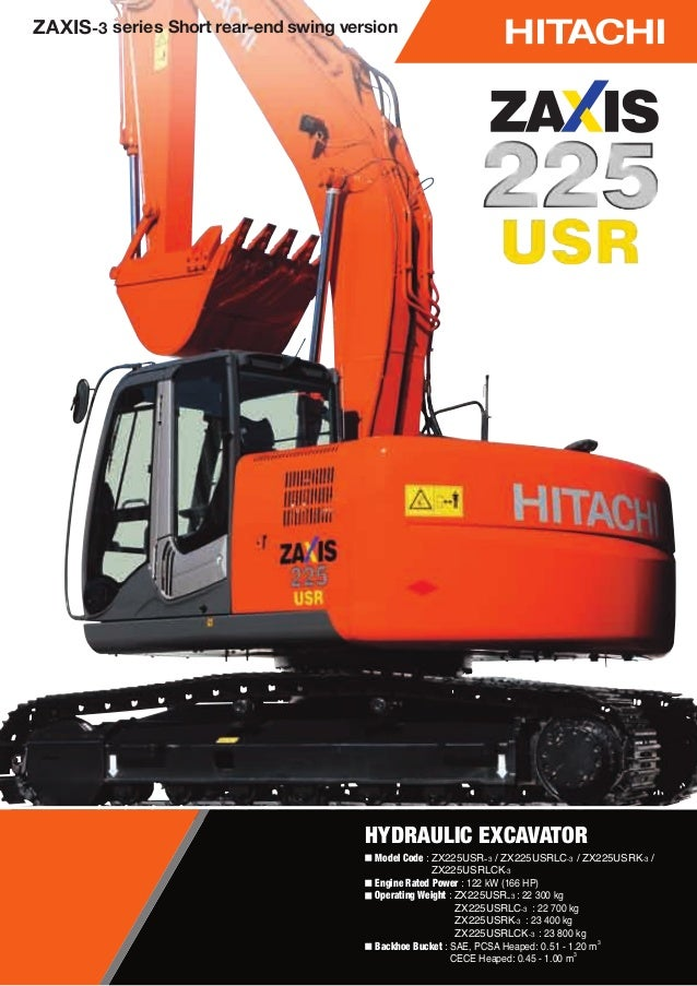 Escavadeira hidraulica hitachi 225 usr