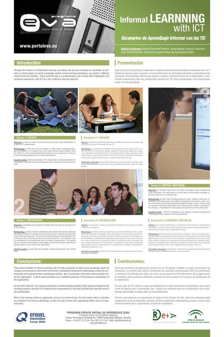 Escenarios De Aprendizaje Informal Con Las Tic  Informal Learnning With Ict