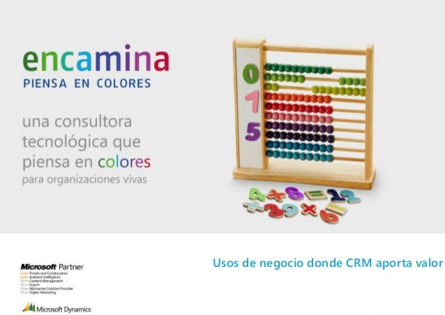 Usos de negocio donde CRM aporta valor