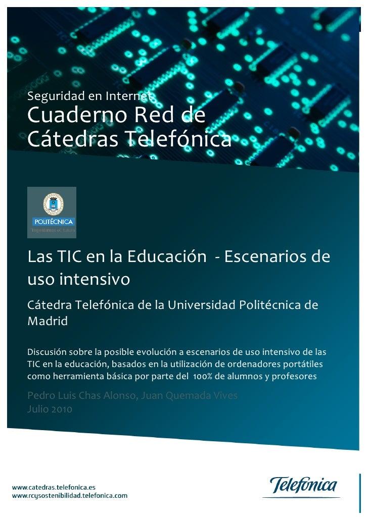 Las TIC en la Educación ‐ Escenarios de uso intensivo