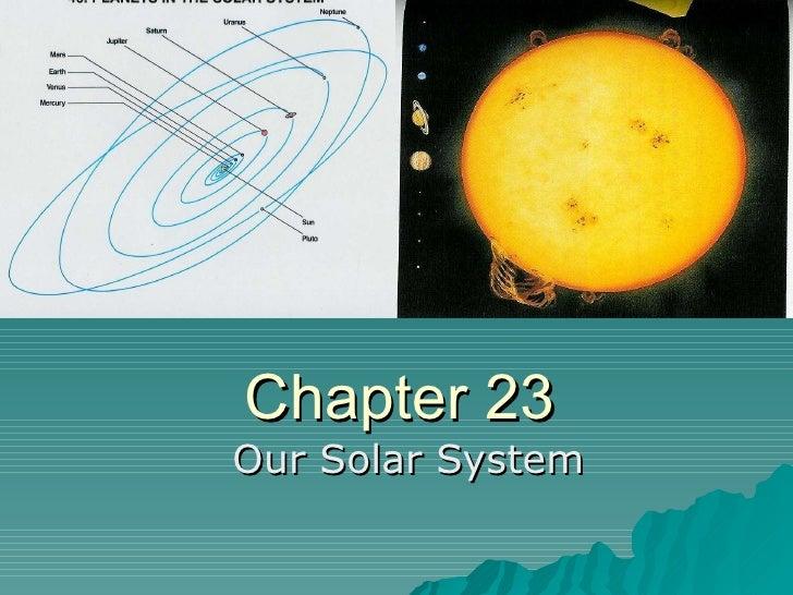 Es Ch. 23 Solar System