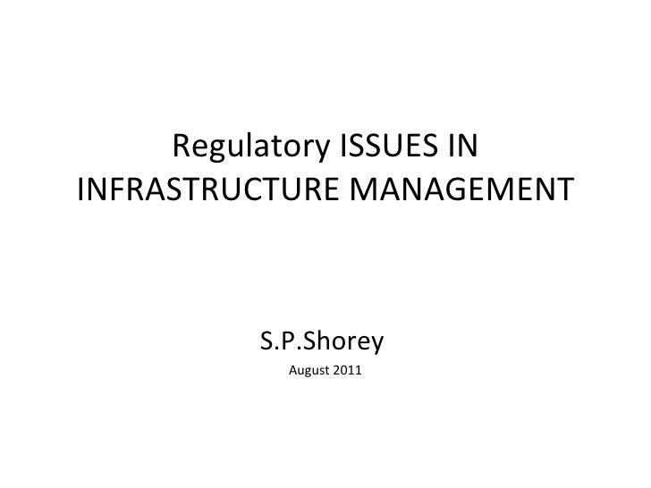 Esci regulatory issues -inframanagement