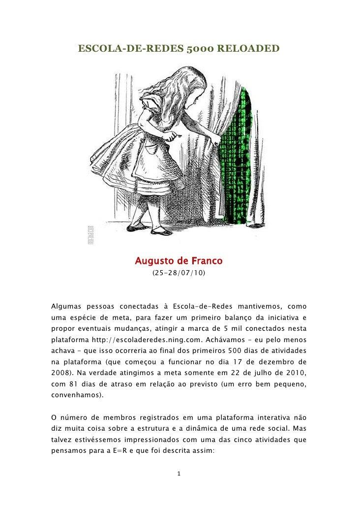 ESCOLA-DE-REDES 5000 RELOADED<br />Augusto de Franco <br />(25-28/07/10)<br />Algumas pessoas conectadas à Escola-de-Redes...