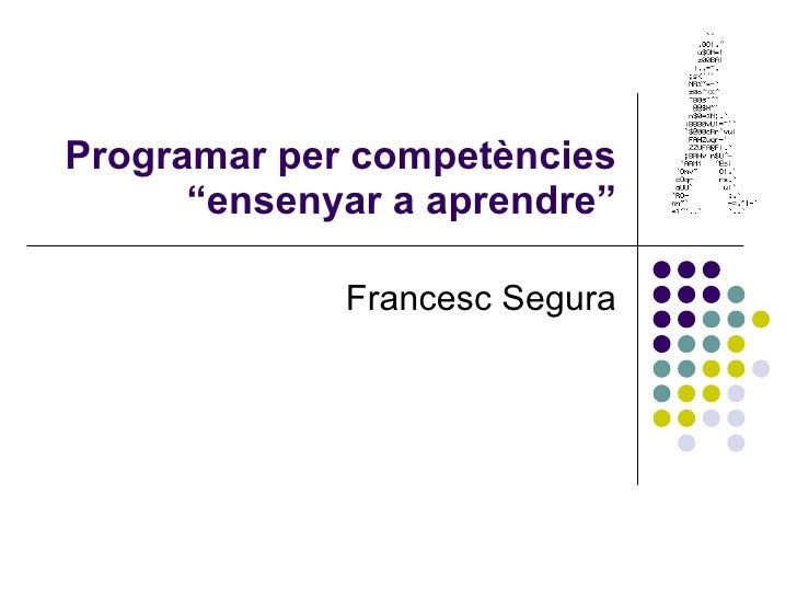 Programar per competències