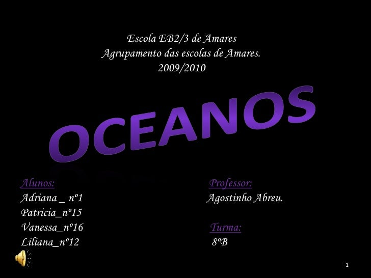 Escola EB2/3 de Amares                 Agrupamento das escolas de Amares.                             2009/2010     Alunos...